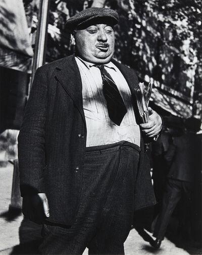 Lisette Model, 'Newspaperman, Paris', 1933-1938