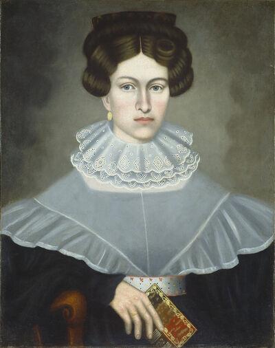Erastus Salisbury Field, 'Woman Holding a Book', ca. 1835