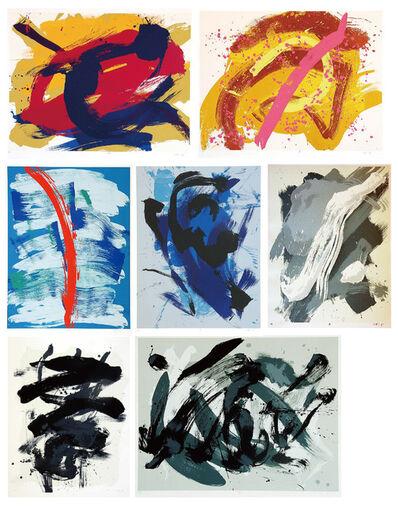 Kazuo Shiraga, 'UN, HUN, SHUN, KEI, HU, RAI, HAN', 1990