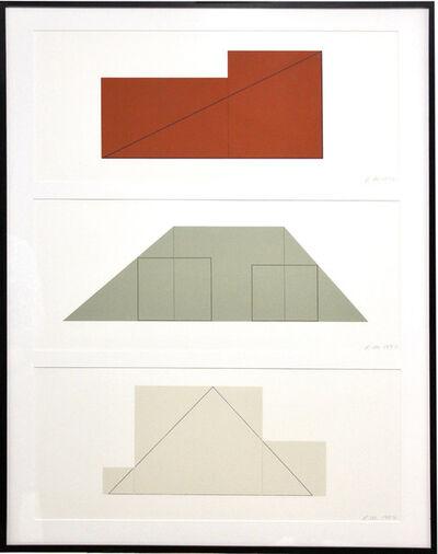 Robert Mangold, 'Untitled (from Multiple Panel Paintings Portfolio) Three Works', 1992