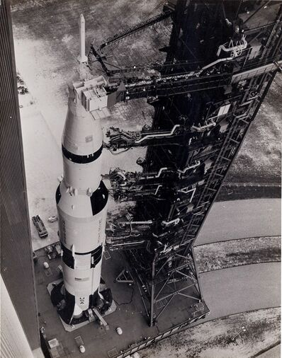 NASA, 'Apollo 6 transported to the launch pad', 1968