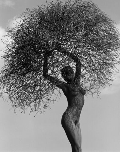 Herb Ritts, 'Neith with Tumbleweed, Paradise Cove', 1986