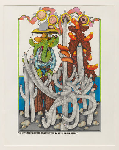 Terry Allen, 'The Cowboy's Dreams of Home Turn to Chili-Up-The-Desert', 1969