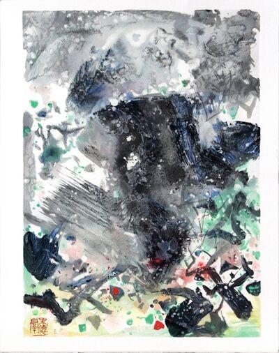 Chu Teh-Chun, 'Encre Orageuse II', 2008