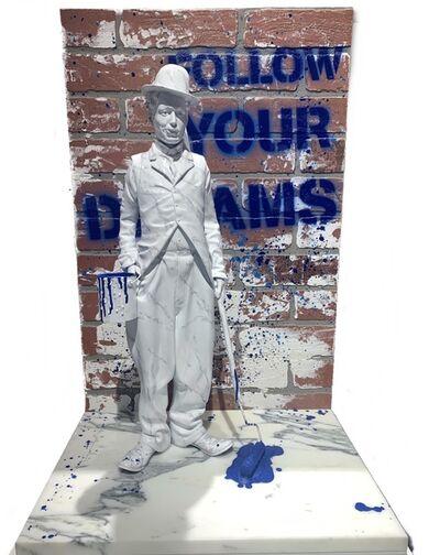 Mr. Brainwash, 'Chaplin Splash - Blue', 2020