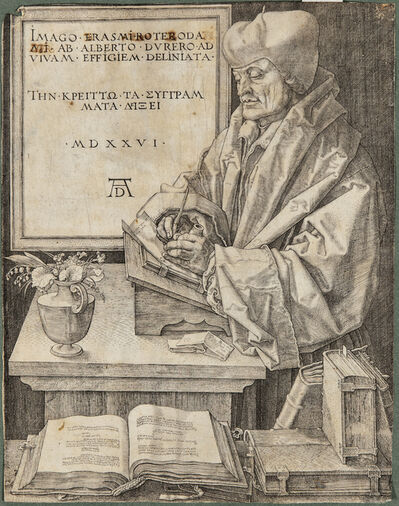 Albrecht Dürer, 'Erasmus of Rotterdam', 1526