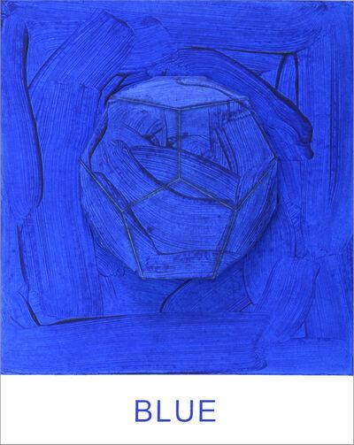 John Baldessari, 'Eight Colorful Inside Jobs: Blue', 2017