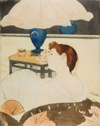 Mary Cassatt, 'The Lamp', 1890-1891