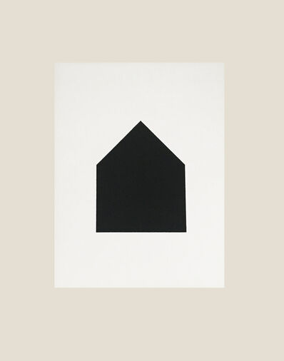 Jürgen Bauer, 'Black House on white', 2020