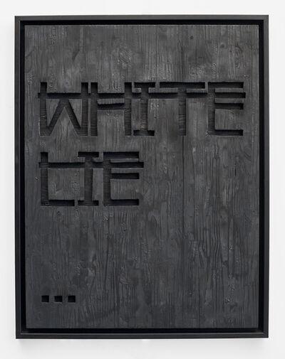 Rero, 'Sans titre (WHITE LIE...)', 2018