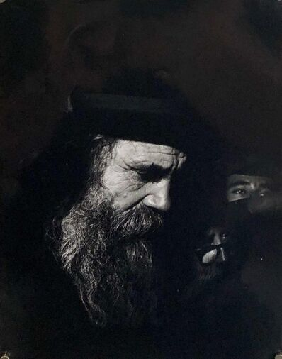 Arie Meiseles, 'Rabbi Meditating Vintage Silver Gelatin Photograph Chabad Chassidim Judaica', 1960-1969