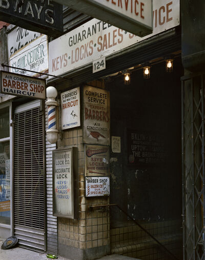 Wayne Sorce, 'Barber Shop, New York', 1985