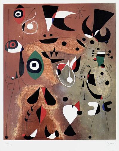 Joan Miró, ' Femmes, Oiseaux, Etoile (Woman, Birds, Star)', 1960