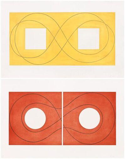 Robert Mangold (b.1937), 'Double Square Frame I & II', 2015