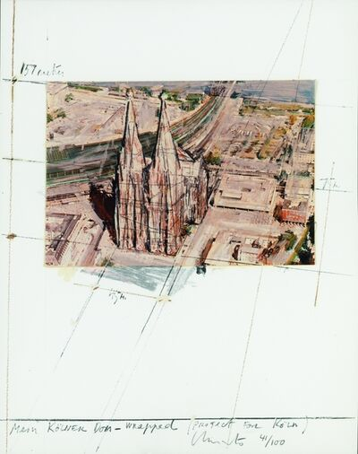 Christo, 'Mein Kölner Dom Wrapped (Project for Köln)', 1985