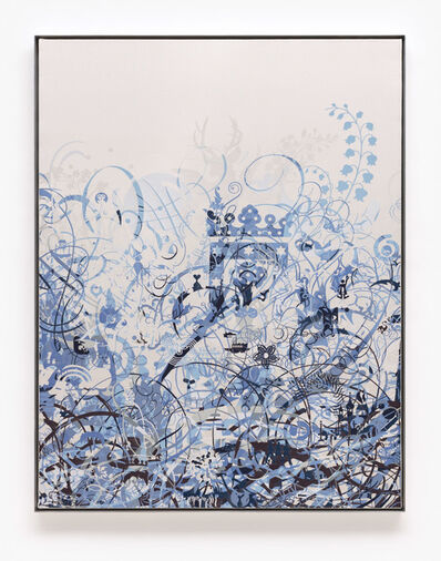 Ryan McGinness, 'Untitled (Woven Mindscape II)', 2014