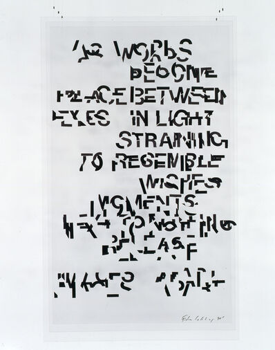 Edwin Schlossberg, 'As Words ', 1990
