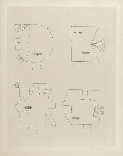 Victor Brauner, 'Plate II from the portfolio Codex d'un Visage', 1962