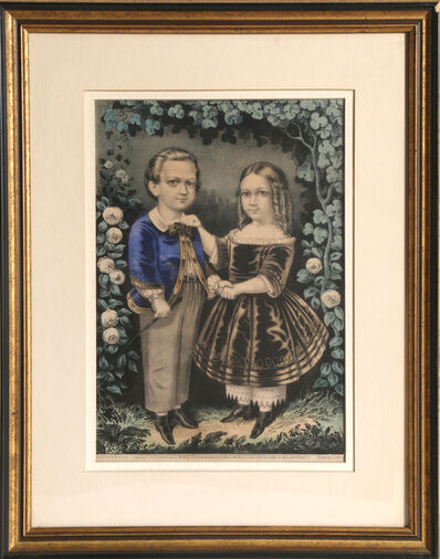 Currier & Ives, 'Boy and Girl', circa 1863