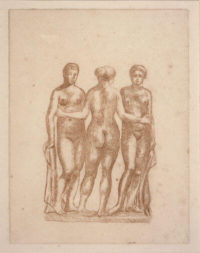 Aristide Maillol, 'Three Nudes', ca. 1936-1938
