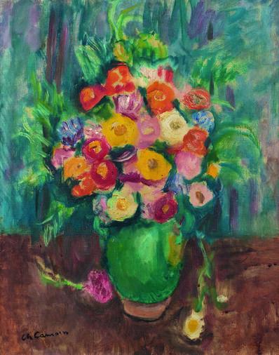 Charles Camoin, 'Fleurs à la jarre verte', 1951