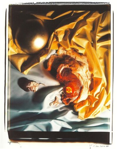 Helen Chadwick, 'Meat Abstract No. 8: Gold Ball / Steak', 1989