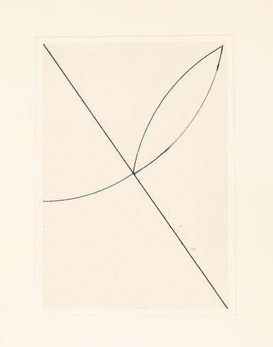 Helmut Federle, 'Exzentrische Figur (Blume)', 1989