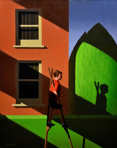 Rob Browning, 'Stilts and Two Windows', 2019