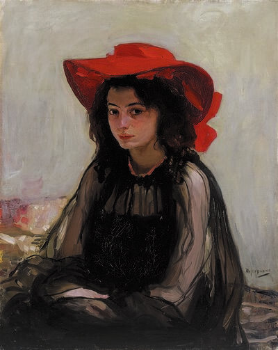 Oleksandr Murashko, 'Portrait of a Girl in a Red Hat', 1902-1903