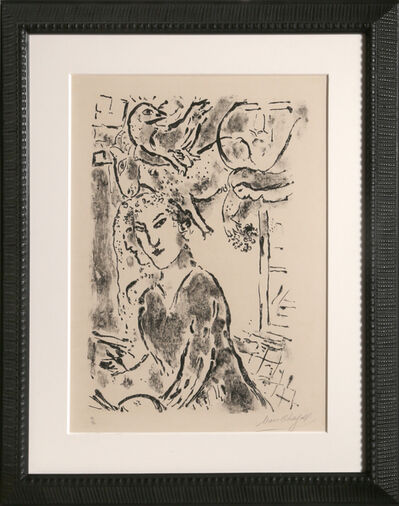 Marc Chagall, 'Self Portrait at the Window (M. 182)', 1957