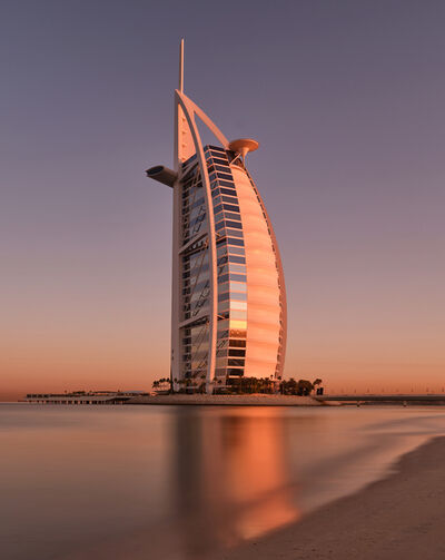 Andrew Prokos, 'Burj al Arab Dawn - Long Exposure', 2020