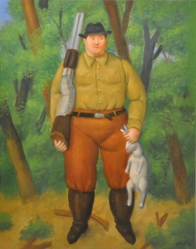 Fernando Botero, 'The hunter', 2011