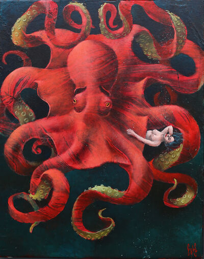 Sylvain Lefebvre, 'Monica and Her Red Octopus', 2021