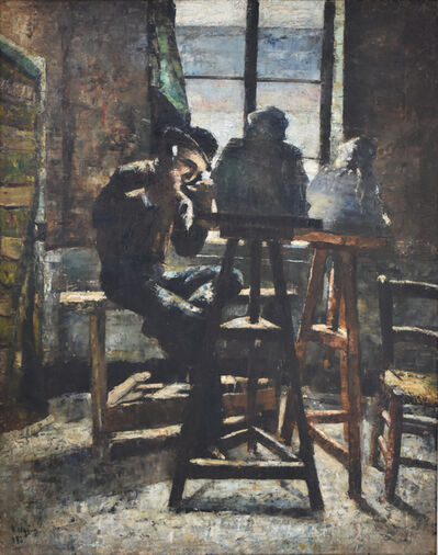 Lesser Ury, 'The Sculptor's Studio | Das Bildhauer Atelier, 1883', 1883