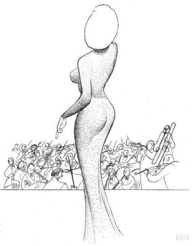"Al Hirschfeld, '""Marilyn Monroe - Happy Birthday, Mr. President""', 2002"