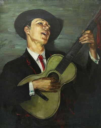 Loren Roberta Barton, 'The Guitar-Player, Arthur Tracey', 1925