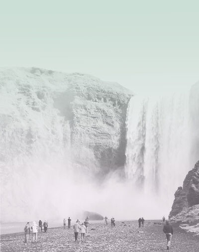 Alicia Kopf, 'Waterfall Chasers. Skógafoss', 2016