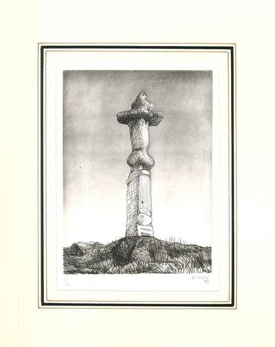 Henry Moore, 'Glenkiln cross, Plate II', 1973