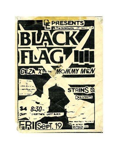 Raymond Pettibon, 'Raymond Pettibon illustrated Black Flag handbill (Raymond Pettibon Black Flag) ', 1980
