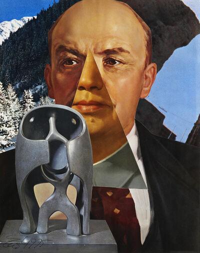 Erró, 'Portrait de Lenine / Mao', 1975