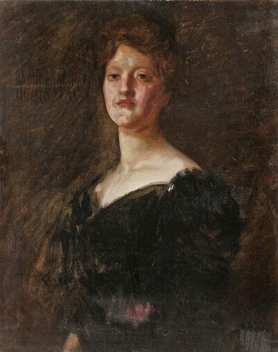 William Merritt Chase, 'Lady in Black (Lilian Westcott Hale)'