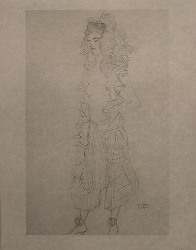 Gustav Klimt, 'Figurine, Standing, with Lace Hood - Niyoda Paper', 1919