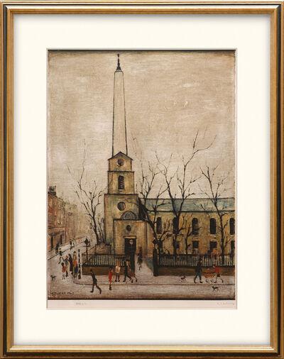 Laurence Stephen Lowry, 'St. Luke's Church, Old Street, London. E. C.', 1973