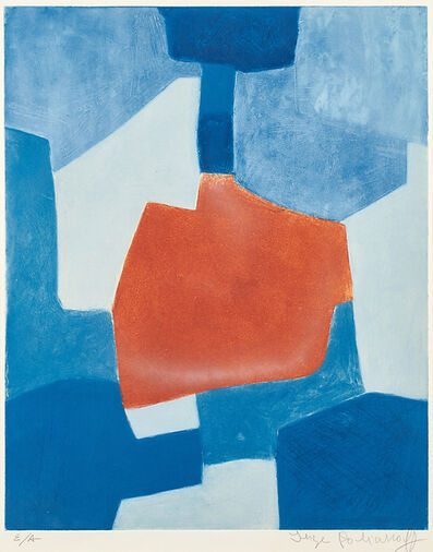 Serge Poliakoff, 'Composition in Blue and Red', 1967