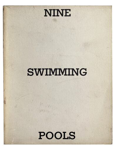 Ed Ruscha, 'Nine Swimming Pools and a Broken Glass', 1968
