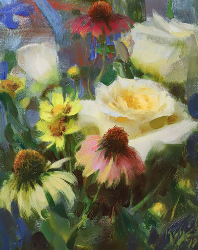Daniel Keys, 'Roses and Echinacea', 2019