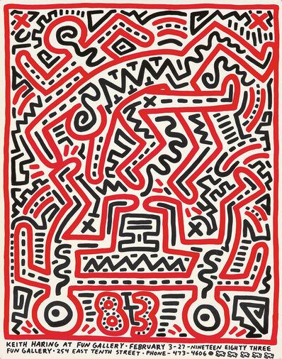 Keith Haring, 'Keith Haring at FUN Gallery', 1983
