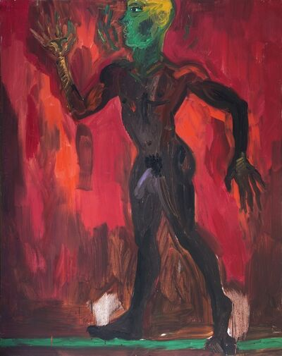 Rainer Fetting, 'Man on the green line', 1983