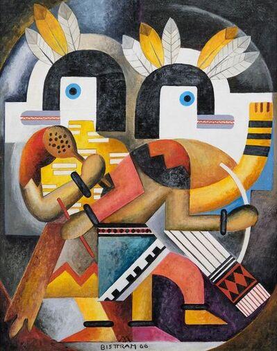 Emil Bisttram, 'Hopi Dancers', 1966