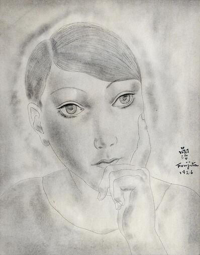 Léonard Tsugouharu Foujita, 'Head of a Young Girl', 1926